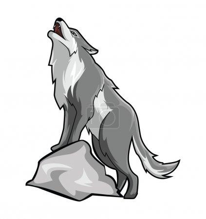 Illustration pour Illustration de loup - image libre de droit