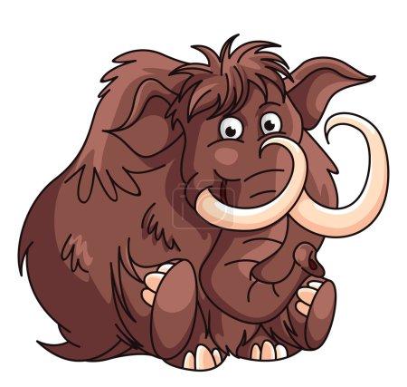 Mammoth Cartoon Illustration