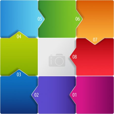 Conceptual vector of colorful cubes with arrows
