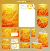 Ogange Business style template with floral pattern