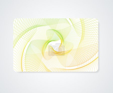 Colorful Business card, Gift card, Discount card template (layout) with rainbow guilloche pattern (watermark). Vector abstract background design
