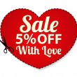 Vector Sale Coupon, labels (banner, tag) red templ...