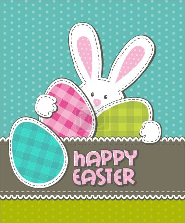 Illustration for Easter holiday greeting card - Royalty Free Image