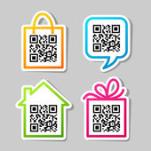 QR-Code Set of pictograms