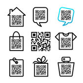 QR-Code Set of 8 pictograms