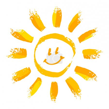 Illustration for Smiling cartoon sun - Royalty Free Image