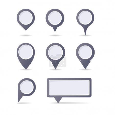 Illustration pour Ensemble de pointeurs de marque de carte - image libre de droit