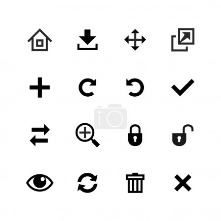 Web icons set. Toolbar, edit and customize