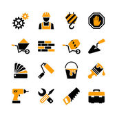 16 web icons set - building construction repair and decoration