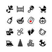 Set of 16 web icons Baby suckling child
