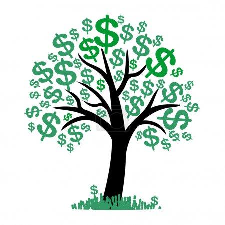 Vector money tree - symbol of successful business