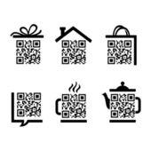 QR-Code Set of pictograms for website