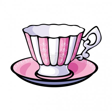 Vector tea cup and saucer