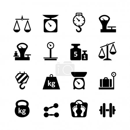 Web icon set - scales, weighing, weight, balance