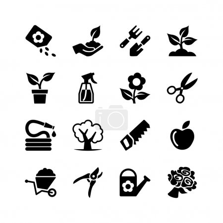 Illustration for Web icon set -Garden, tools, watering - Royalty Free Image