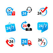 Web icon set - nonstop service delivery support call center