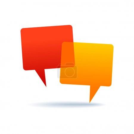 Illustration pour Icône du forum. Deux bulles d'expression - image libre de droit