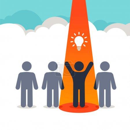 New idea, insight - pictogram people