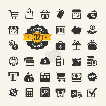 Web icon set - shopping, money, finance