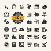 Web icon set - shopping money finance