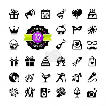 Web icon set - Party, Birthday, celebration