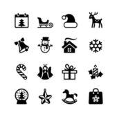 Weihnachten und Neujahr. Web Icon-set