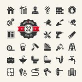 Web icon set - building construction and home repair tools