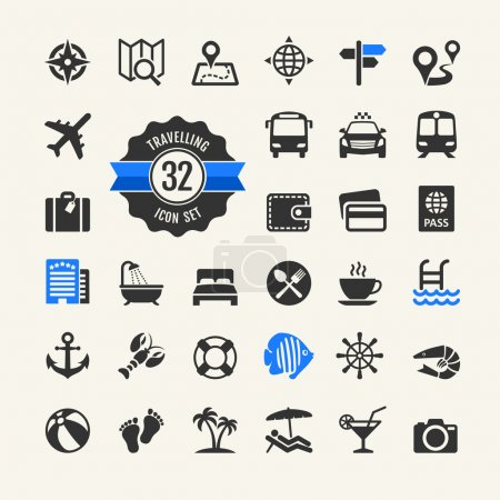 Web icon set -  travelling, vocation and inbound tourism