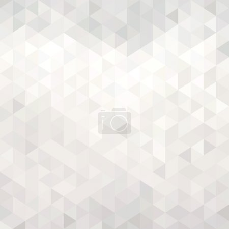 Illustration for Abstract white geometric background - origami - Royalty Free Image