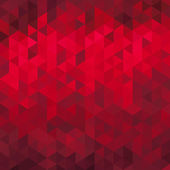 Abstract red geometric background - origami style