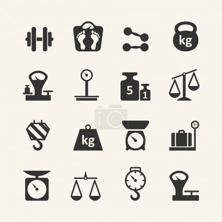 Illustration for Web icon collection - scales, weighing, weight, balance - Royalty Free Image