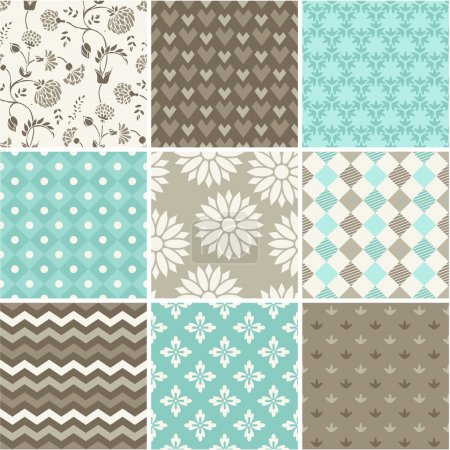 Illustration for Seamless vector patterns set - Royalty Free Image