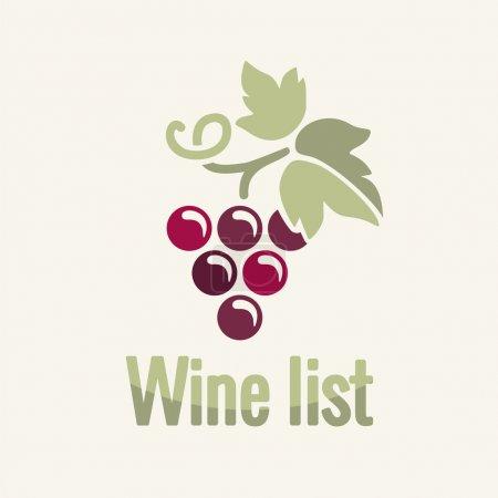 Illustration pour Vin millésime vignes étiquette fond - image libre de droit