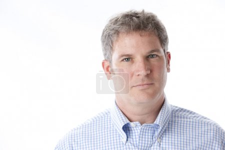 Serious middle aged caucasian man