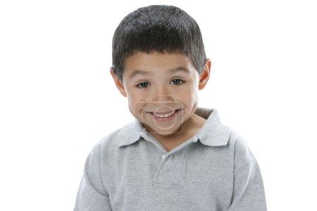 Portrait of surprised hispanic little boy