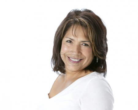 Smiling hispanic mature woman