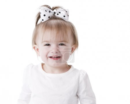 Image of laughing caucasian little girl