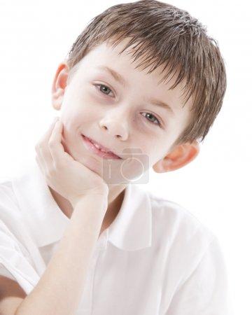 Smiling caucasian little boy