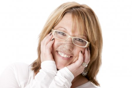 Smiling caucasian mid adult woman