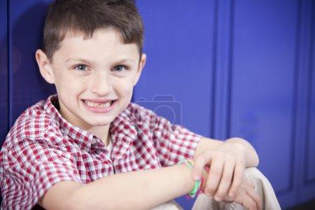 Image of smiling caucasian little boy
