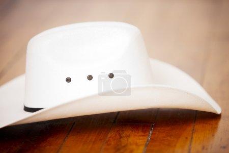 Stylish white cowboy hat