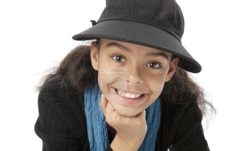 Image of smiling black little girl