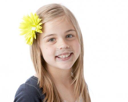 Real. Caucasian smiling little girl