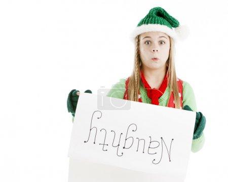 Santas Christmas elf shocked at naughty list