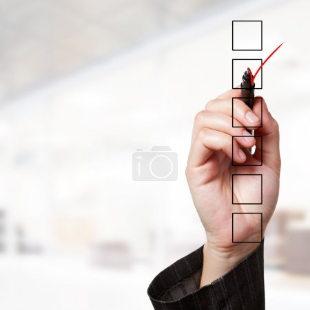 Photo for Business concept: check box at office - Royalty Free Image