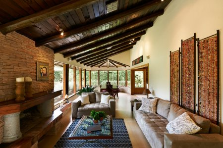 Interior design series: classic rustic living room