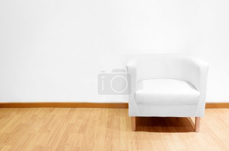Photo for Empty room with a white sofa - Royalty Free Image