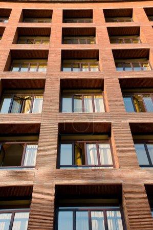 Orange brick buildings departments in Spain