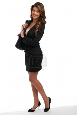 Business woman with purse.