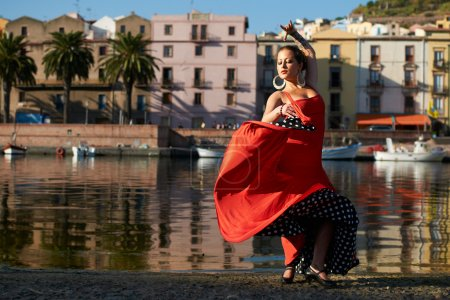 Photo for Traditional Flamenco dancing at the river - Royalty Free Image